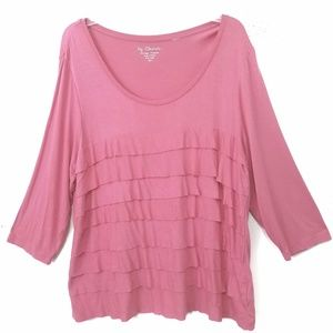 Chicos Womens Ruffled T-Shirt Sz XL (3)